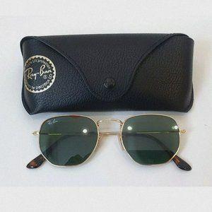 Ray-Ban Hexagonal Flat Lense Rb3548 001 Sunglasses